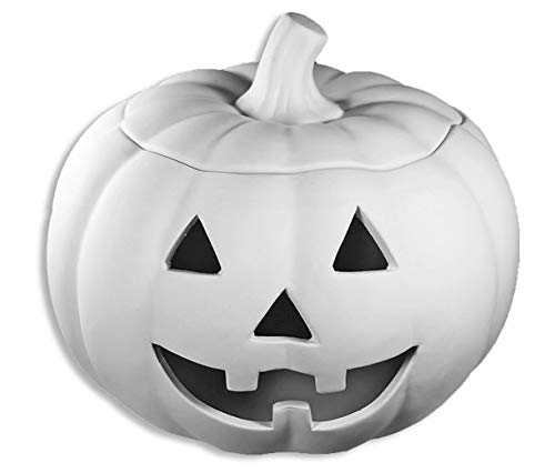 Large 2 Piece Jack-O-Lantern - Paint Your Own Hallo-Weeny Ceramic Keepsake by New Hampshire Craftworks