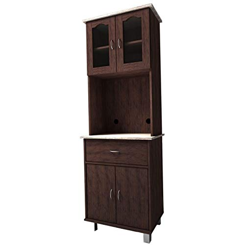 Pemberly Row Kitchen Cabinet in Chocolate Gray by Pemberly Row (Image #1)