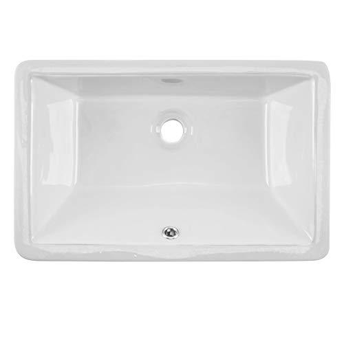 White Glazed Porcelain - CAHABA CA425T18-W 18-1-2 x 11 White Glazed Porcelain Bathroom Sink