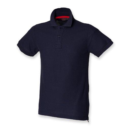 Skinni Fit Herren Club Polo (mit stay-up Kragen) Navy M