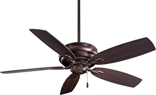 Minka-Aire F614-DBB Downrod Mount, 5 Wood Finish Blades Ceiling fan, Dark Brushed Bronze