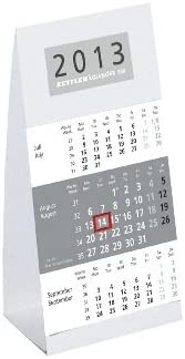 3m Tischkalender 9,5x19,5cm ZET 980-0000 alt ZET 960