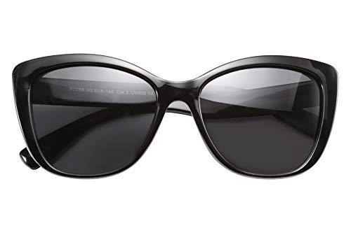 FEISEDY Polarized Vintage Sunglasses American Square Jackie O Cat Eye Sunglasses ()