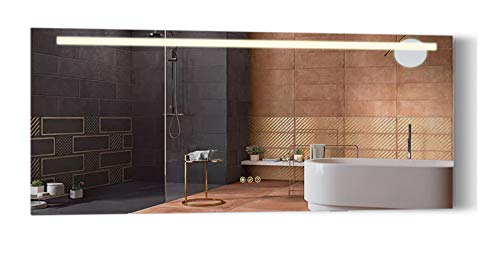 B&C 72x30 inch Super Slim Bathroom Mirror Horizontal | 1 Led Strips| -