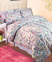 2-Pc. Girls' Floral Twin Comforter Set