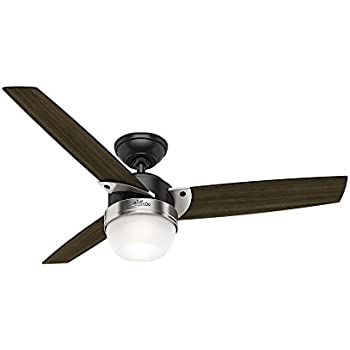 Hunter 59228 contemporary flare matte black ceiling fan with light hunter 59228 contemporary flare matte black ceiling fan with light remote aloadofball Image collections
