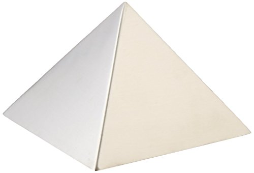 Paderno World Cuisine 5.875 by 5.875 by 4 Inch Stainless Steel Pyramid Mold by Paderno World Cuisine