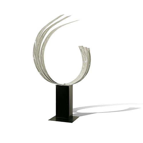 Abstract Silver Metal Sculpture - Triple C