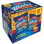 Stauffer's Whales Cheddar Cheese Baked Snack Crackers, 1.5 oz, 12 ct