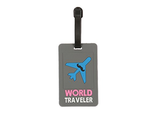 Occasions Gift Giving colorful & Fun Transportation Themed Travel Suitcase ID Luggage Tag and Suitcase Label (World Traveler ~ 4