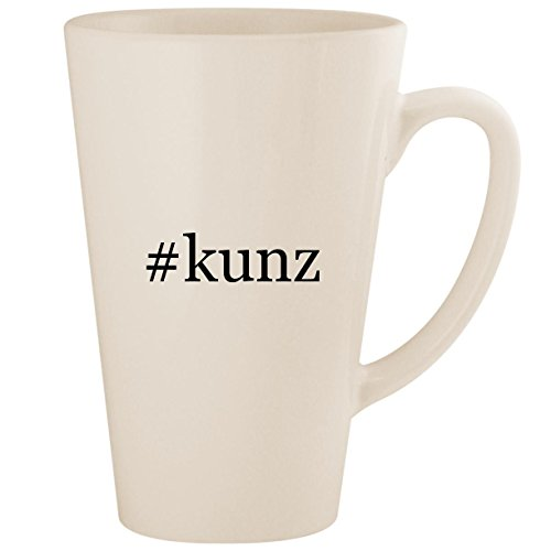 #kunz - White Hashtag 17oz Ceramic Latte Mug (Richard Ivy Water)