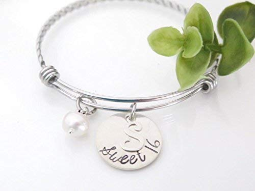Sterling Silver Sweet - Sterling Silver Sweet 16 Charm Bracelet