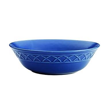 Paula Deen Dinnerware Savannah Trellis Stoneware Round Serving Bowl, 10 , Cornflower Blue