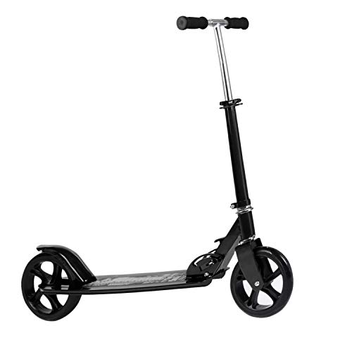 Kids/Adult Scooter with 3 Seconds Easy-Folding System, 220lb Folding Adjustable Scooter with Disc Brake and 200mm Large Wheels -