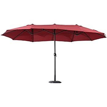 Amazon Com Best Choice Products 15 Twin Patio Umbrella
