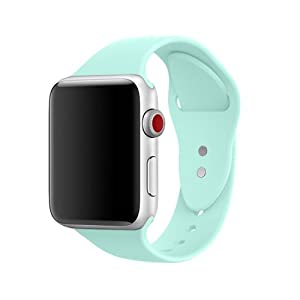 AdMaster Silicone Apple Watch Band and Replacement Sport iwatch Accessories Bands Series 3 2 1 Mint Green 38mm S/M