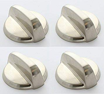 Edgewater Parts WB03T10295 4 Pack Gas Valve KnobS Compatible With GE Oven/Range 4 lot ()