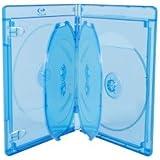 Elite Boitiers Blu-ray pour 6 vierges, 14 mm, Bleu, Transparent, 5 pièces
