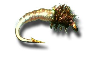 Midge Dry Fly (Disco Midge Fly Fishing Fly - Size 20 - 6 Pack)