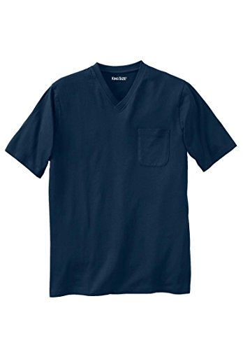 Kingsize Lightweight Cotton V Neck Pocket