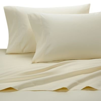 solid ivory percale queen size sheet set 100 cotton deep pocket 300 thread