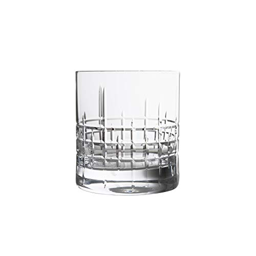 Schott Zwiesel Tritan Crystal Glass Distil Barware Collection Aberdeen Old Fashioned Cocktail Glasses (Set of 6), 9.8 oz, Clear