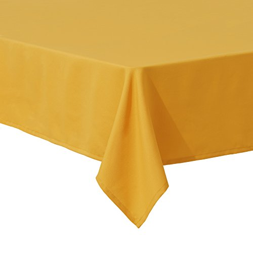 SyMax Waterproof Tablecloth Rectangle Parties Polyester Decorate Table Cover for Picnic,Wedding(54x108 inch, Gold) -