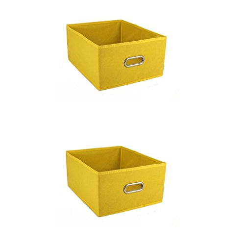 Fvstar Collapsible Storage Bins Fabric Cube Basket Baby Nursery Closet Organizer for Clothes Towels Socks Shoes,Pack of 2