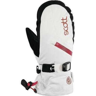 Scott Traverse Mitten - Women's - white/pink, small - Scott Nylon Gloves