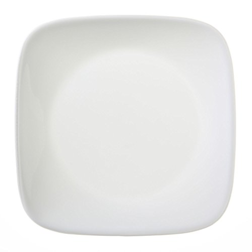 "Corelle Square Pure White 6-1/2"" Plate (Set of 4)"
