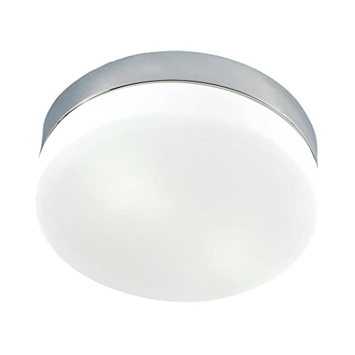 picture of CORNERSTONE LIGHTING 7821FM/22-LED 1 Light Flush Mount In Satin Nickel And White Glass
