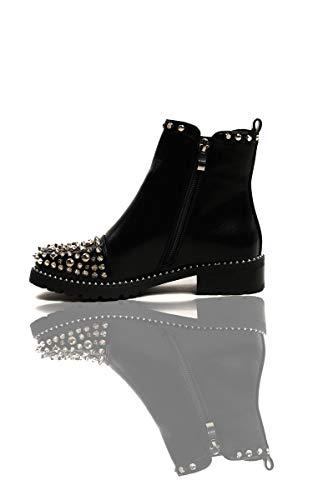 Black Ankle Sasha Ikrush Womens Boots Studded vxqfnpwZWA
