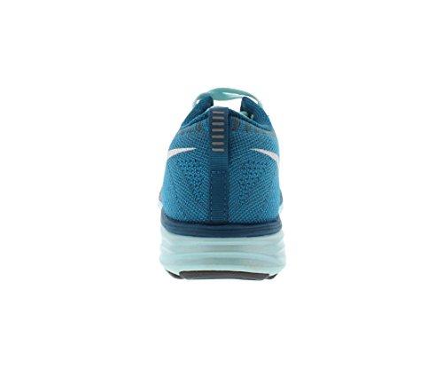 nike s Flyknit lunar2 funcionamiento formadores 620658 414 zapatillas de deporte de los zapatos Petrol/Weiß