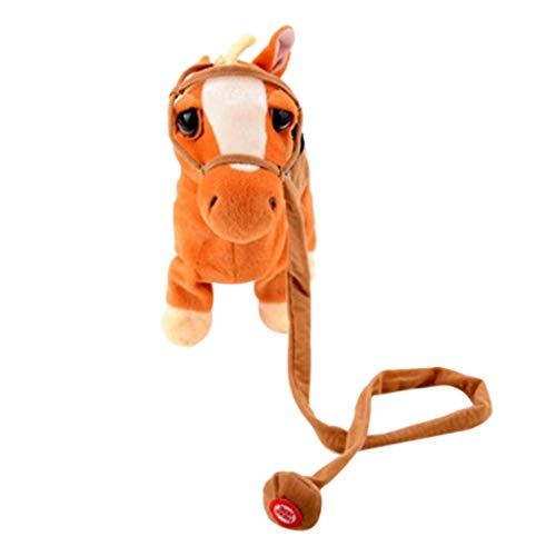 wuliLINL2019 Walking Dancing Toy Horse, Animated Musical Horse Gallop Sings and Trots, Musical Horse Stuffed Plush Electric Soft Doll Baby Toy