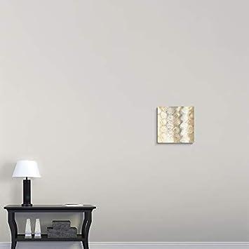 Neutral Circles III Canvas Wall Art Print, 16 x16 x1.25