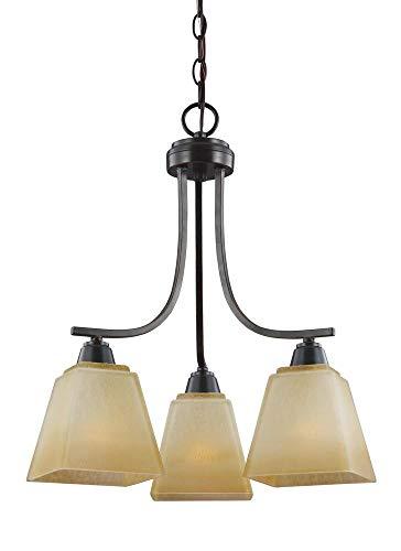 - Sea Gull Lighting 3213003EN3-845 Three Light Chandelier, Flemish Bronze