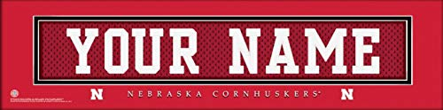 Nebraska Cornhuskers College Jersey Nameplate Wall Print, Personalized Gift, Boy's Room Decor 6x22 Unframed Poster