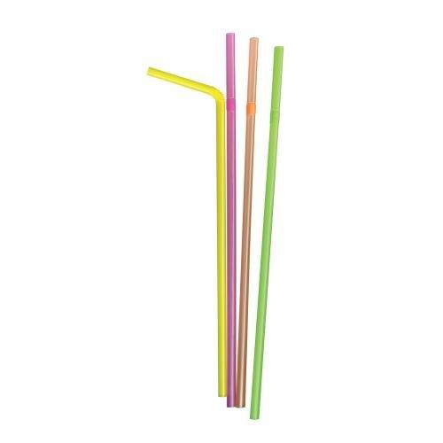 aquí tiene la última Plastico Plastico Plastico 384 globag Bendy botella pajitas Neon 280 mm x 6,5 mm (Pack de 5000)  precios razonables