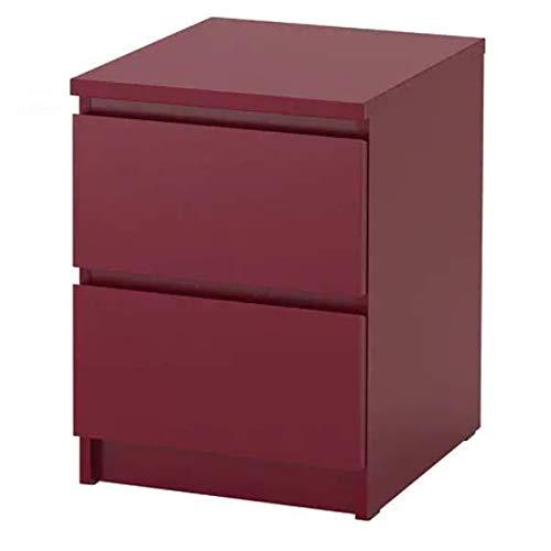 Malm? IKEA Cómoda con 2 cajones; en Rojo Oscuro; (40 x 55 cm ...