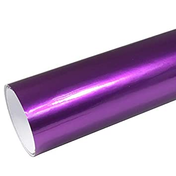 Rapid Teck/® AutoFolie Serie z560 Candy Purple Explosion Hochglanz 1m x 1,52m Lila selbstklebende Premium Car Wrapping Glanz Folie mit Luftkanal