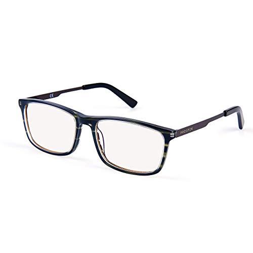 PROSPEK Computer Glasses - Blue Light Blocking Glasses - Granite