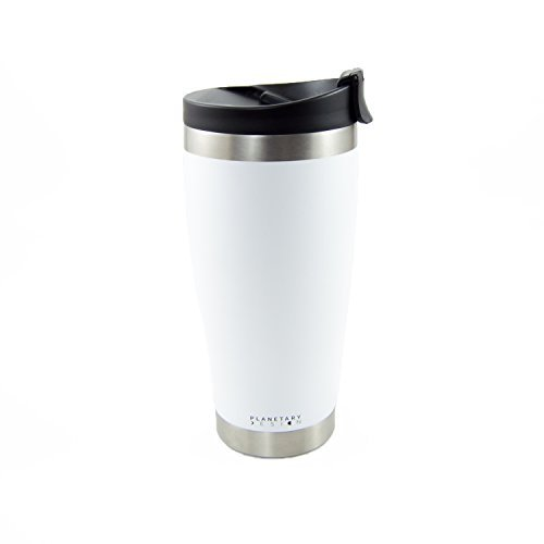 Adventure Tumbler - 16 fl.oz. Stainless Steel Coffee & Tea Tumbler with Leak Proof Lid - Stays Hot For Hours - Not-slip Texture Snowflake by BrüTrek by Planetary Design