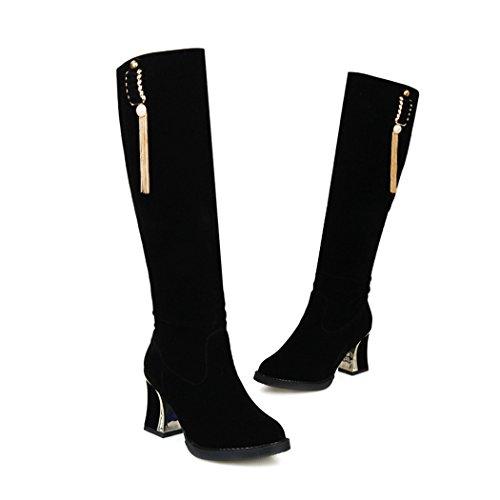 black und Schuhe QXWeihnachtsgeschenk Größe Europäische amerikanische ZQ Damen q4E0SE