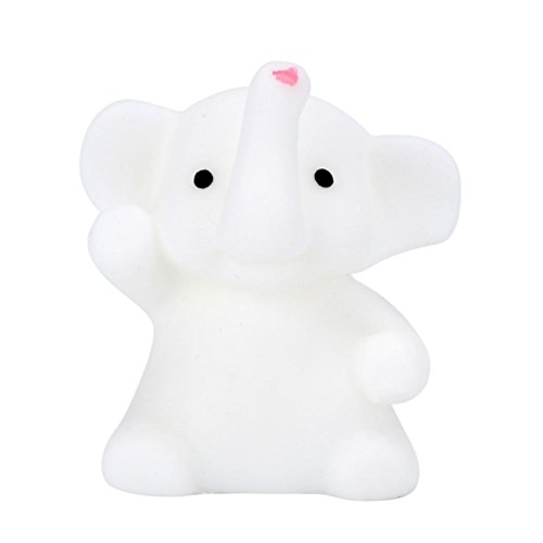 Letong 4CM TPR Cute Elephant Mochi Squishy Squeeze Healing Fun Kids Kawaii Toy Stress Reliever Deco (White) - Broom Costume For Horse