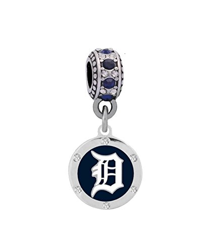 Final Touch Gifts Detroit Tigers Round Crystal Charm