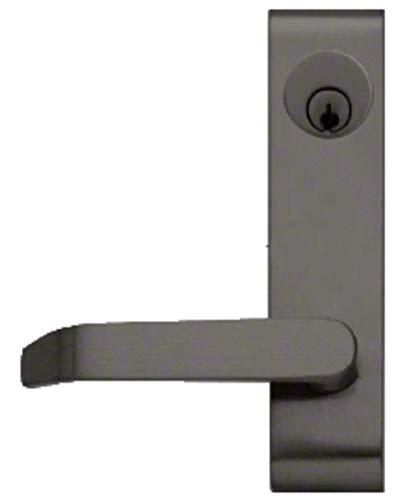 C.R. LAURENCE 9500LV02313 CRL Dark Bronze Jackson Locking Flat Lever Outside Trim