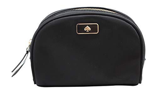 Kate Sapde New York Small Dome Cosmetic Make-Up Clutch Bag Black