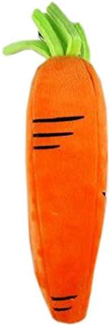 Kreativer Karotten-Bleistift-Briefpapier-Beutel-Feder-Fall-Bleistift-Kasten für Schule/Büro mit Haken, Feine streifen