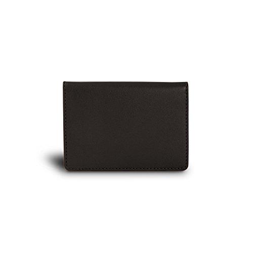 Cuir Pour Porte De Lucrin Véritable Lisse carte Étui Marron Carte Ou En Bancaire Noir Credit qxTvBx