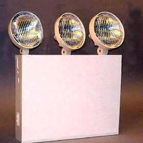 AtLite 12REL50-3 NY Inc Emergency Light, 3 Heads, 12V, 50W, White